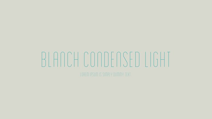 Blanch Condensed Light Font