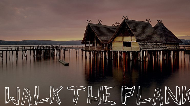 Walk the Plank Font