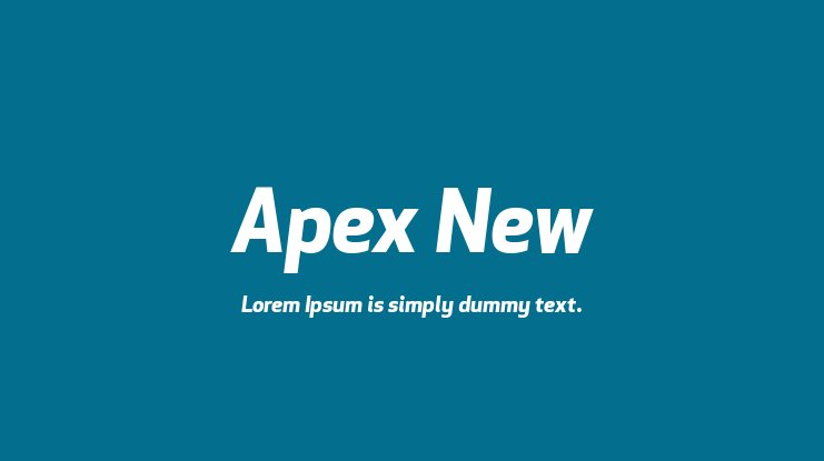 Apex New Font Family