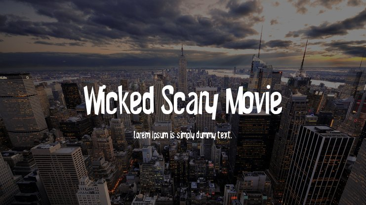 Wicked Scary Movie Font