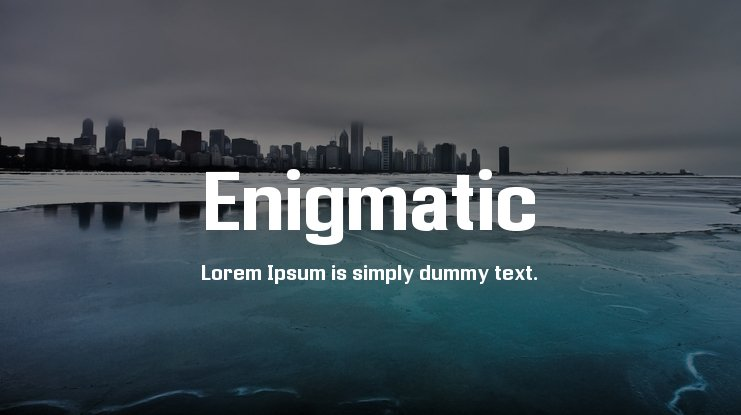 Enigmatic Font Family