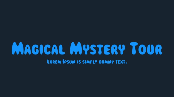 Magical Mystery Tour Font Family