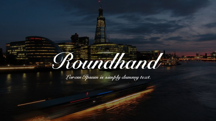 Roundhand Font Family