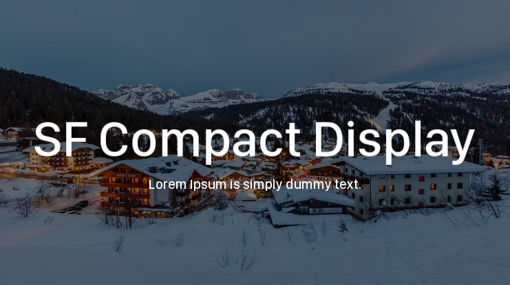 SF Compact Display Font Family