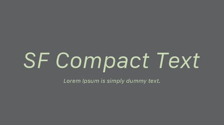 SF Compact Text Font Family