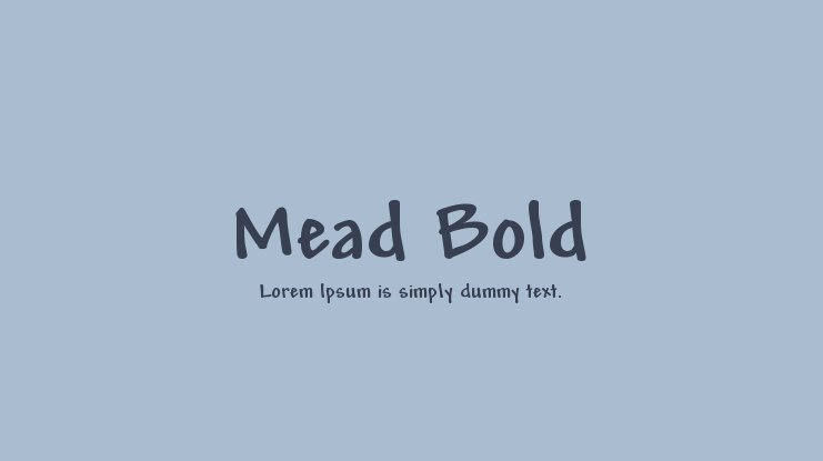 Mead Bold Font