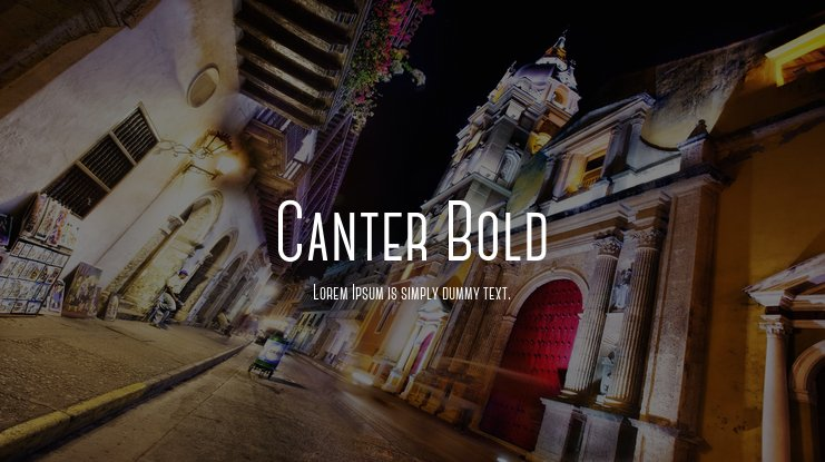 Canter Bold Font