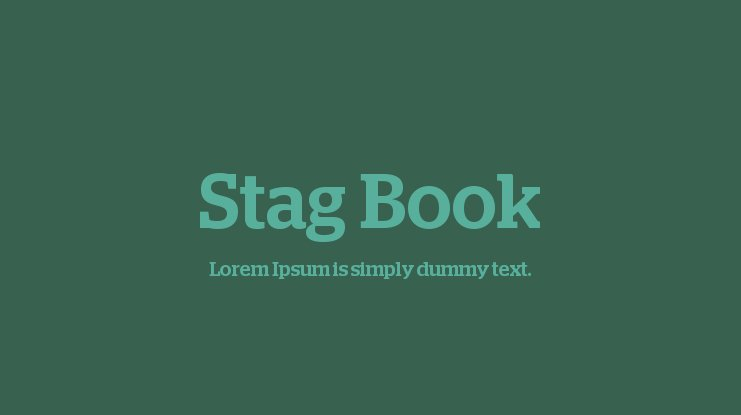 Stag Book Font Family