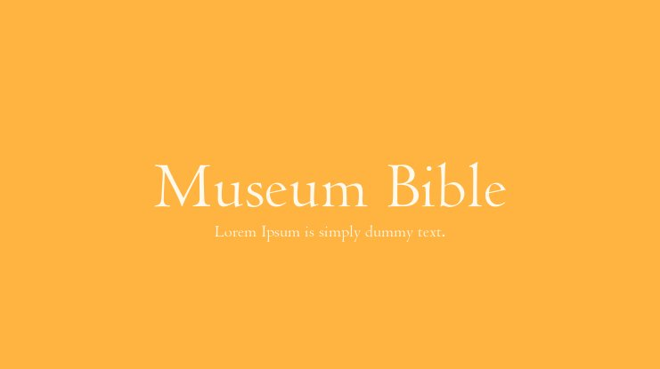Museum Bible Font Family