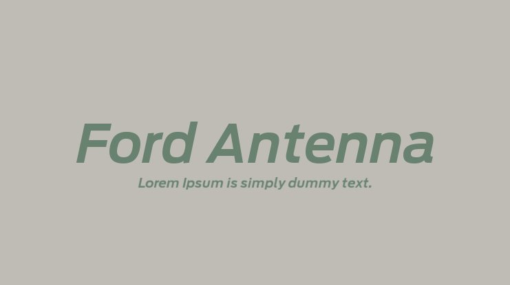 Ford Antenna Font Family