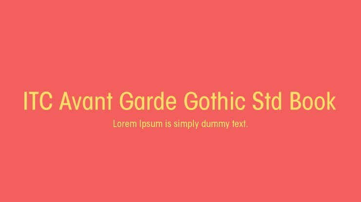 ITC Avant Garde Gothic Std Book Font Family