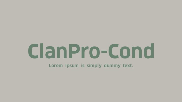 ClanPro-Cond Font Family