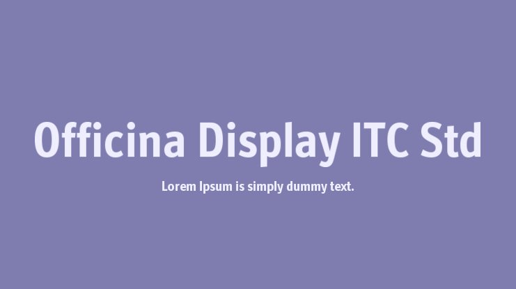 Officina Display ITC Std font