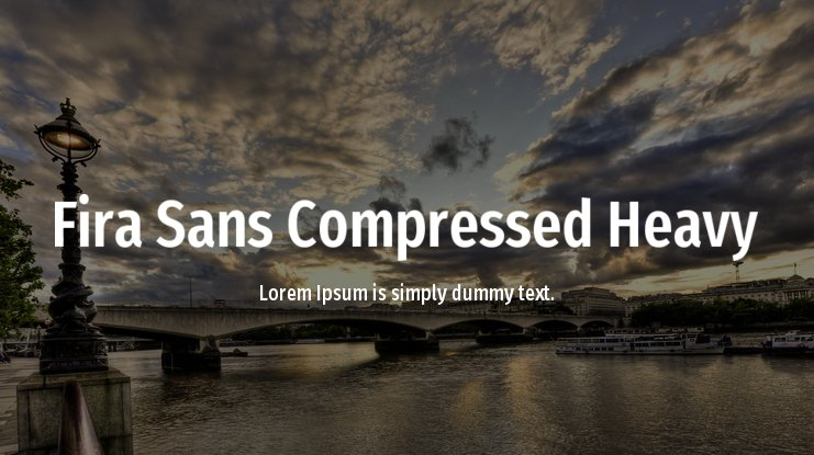 Fira Sans Compressed Heavy Font Family