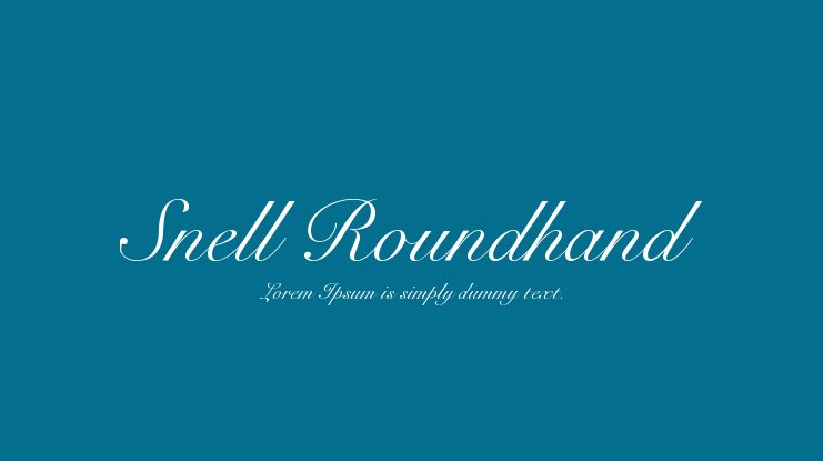 Snell Roundhand Font Family