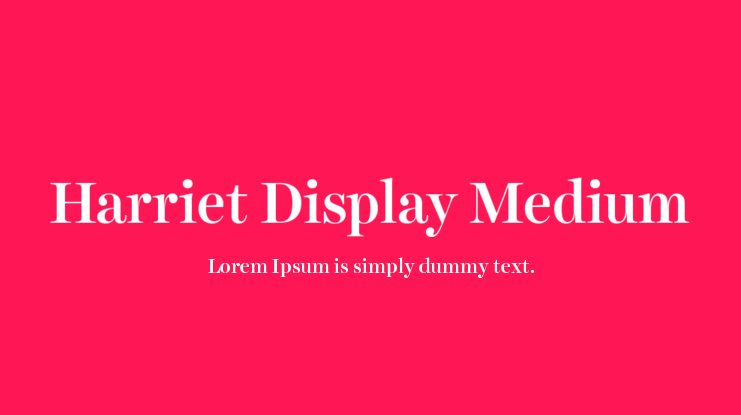 Harriet Display Font Family