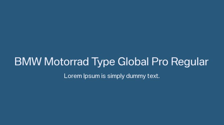 BMW Motorrad Type Global Pro Regular Font