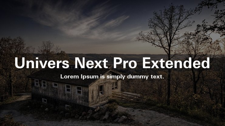 Univers Next Pro Extended Font Family