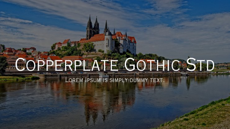 Copperplate Gothic Std font