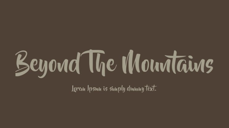 Beyond The Mountains Font Family