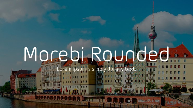 Morebi Rounded Font