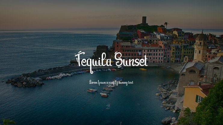 Tequila Sunset Font