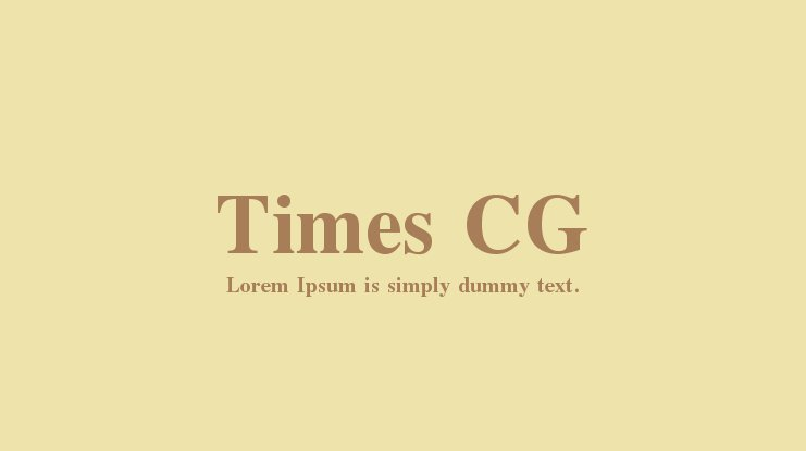 Times CG Font Family