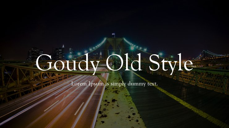 Goudy Old Style Font