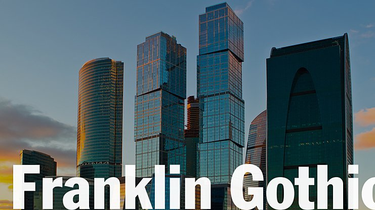 Franklin Gothic Font Family