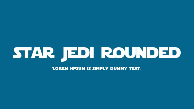 Star Jedi Rounded Font Family