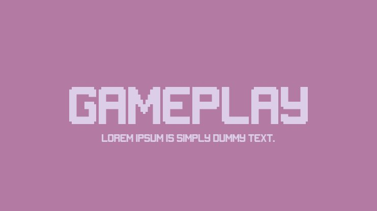 Gameplay Font