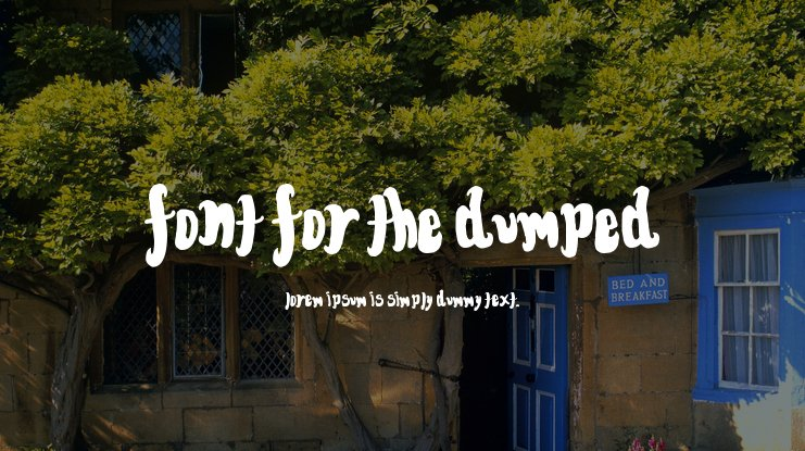 Font for the dumped