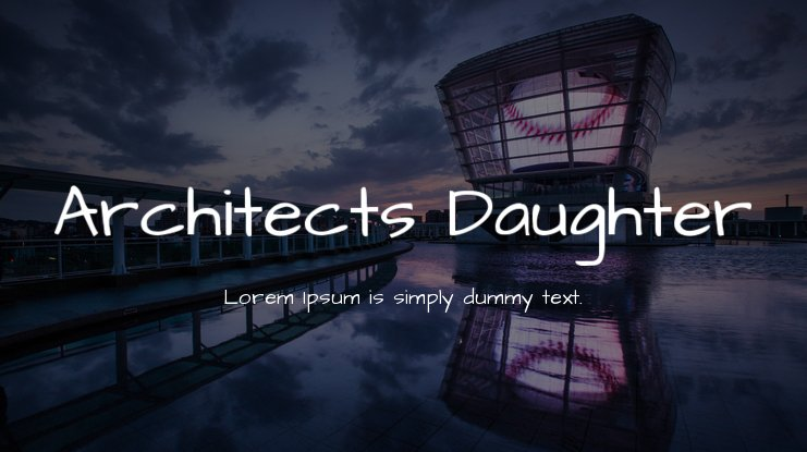 Architects Daughter font