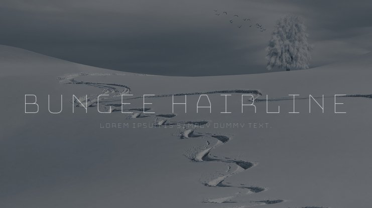 Bungee Hairline Font