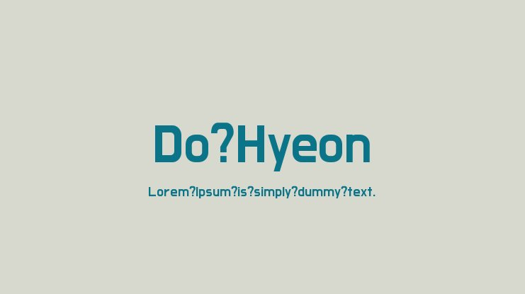 Do Hyeon Font