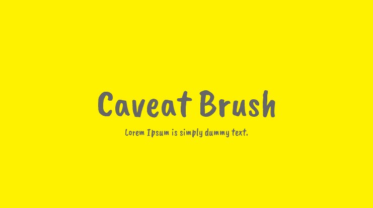 Caveat Brush Font