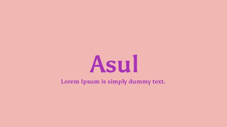 Asul Font Family