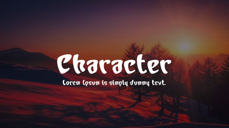 Character Font Family