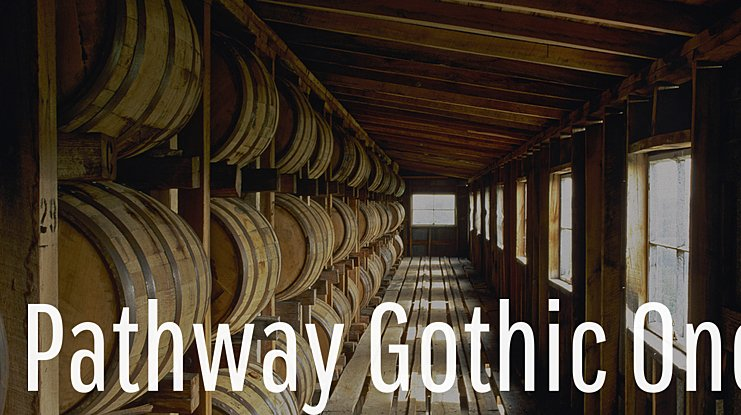 Pathway Gothic One Font