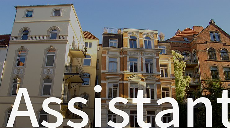 Assistant Font Family