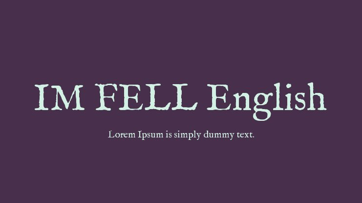 IM FELL English Font Family