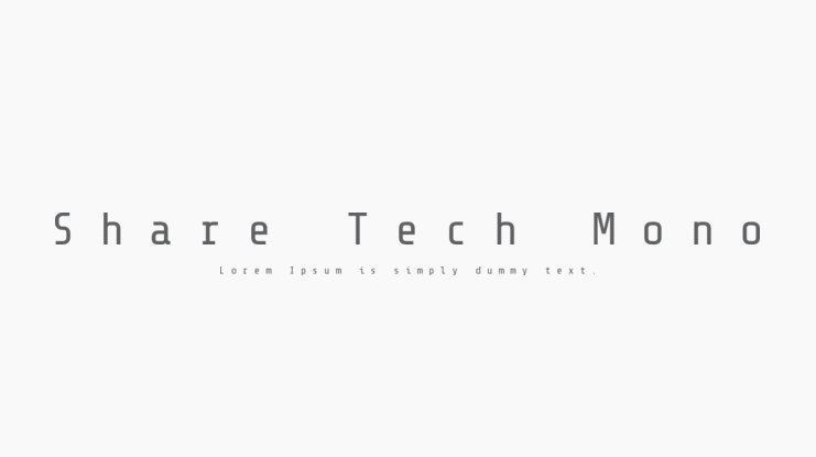 Share Tech Mono Font