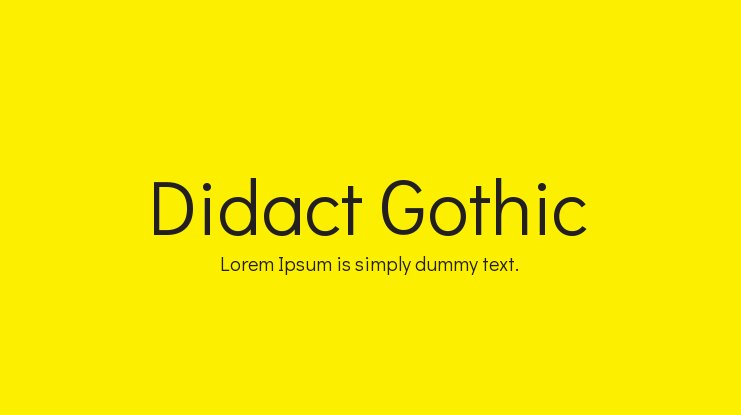 Didact Gothic Font Family