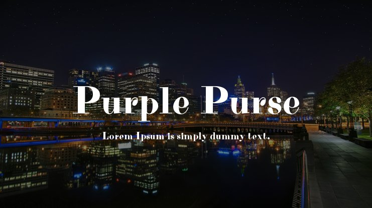 Purple Purse Font