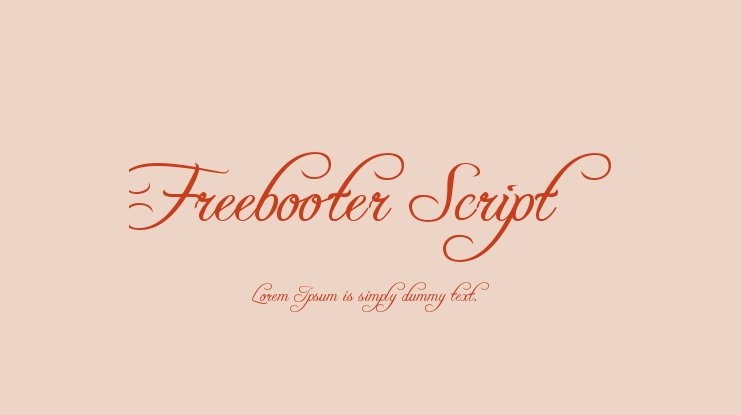 Freebooter Script Font Family