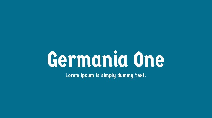 Germania One Font