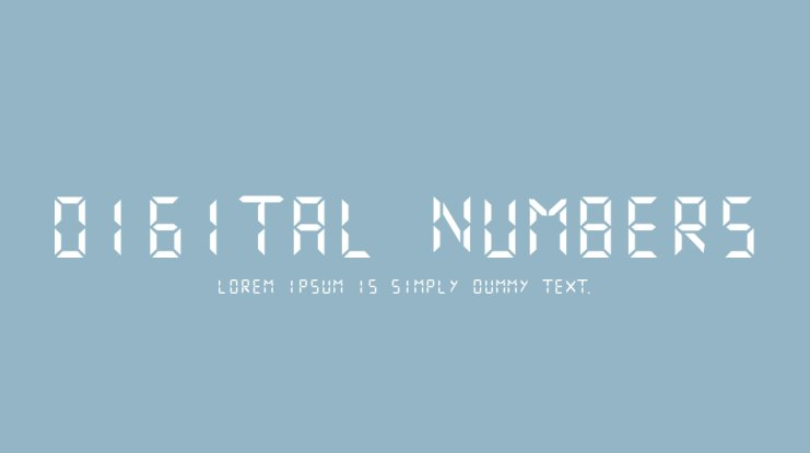Digital Numbers Font