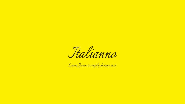 Italianno Font : Download Free for Desktop & Webfont