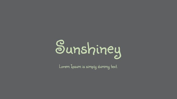 Sunshiney Font
