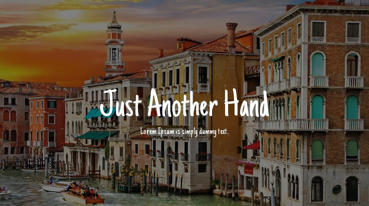 Just Another Hand Font
